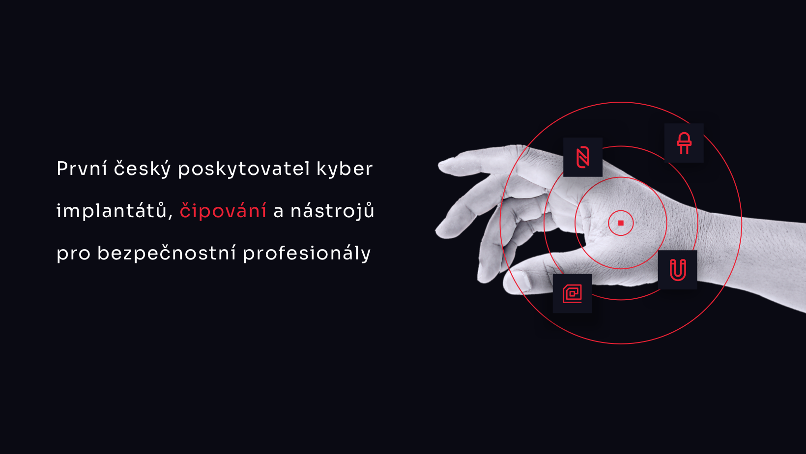 Čipování.eu - motiv s augmentovanou rukou