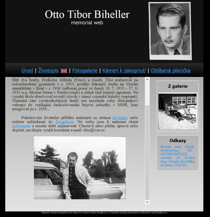 Otto Tibor Biheller Memorial