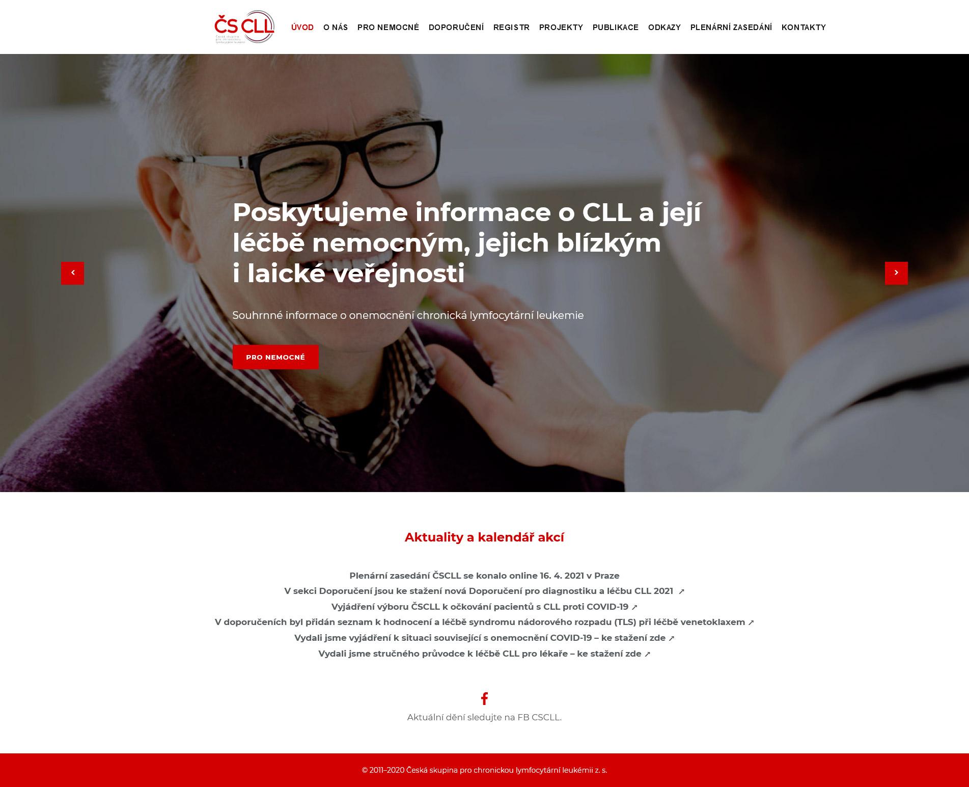 Webové stránky ČS CLL
